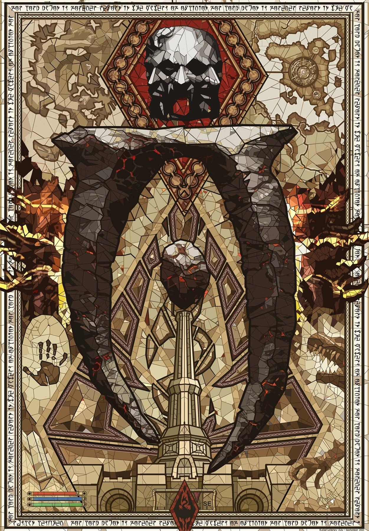Illustration Video Games Poster The Elder Scrolls IV Oblivion ART Ancient History Modern Art Middle Ages