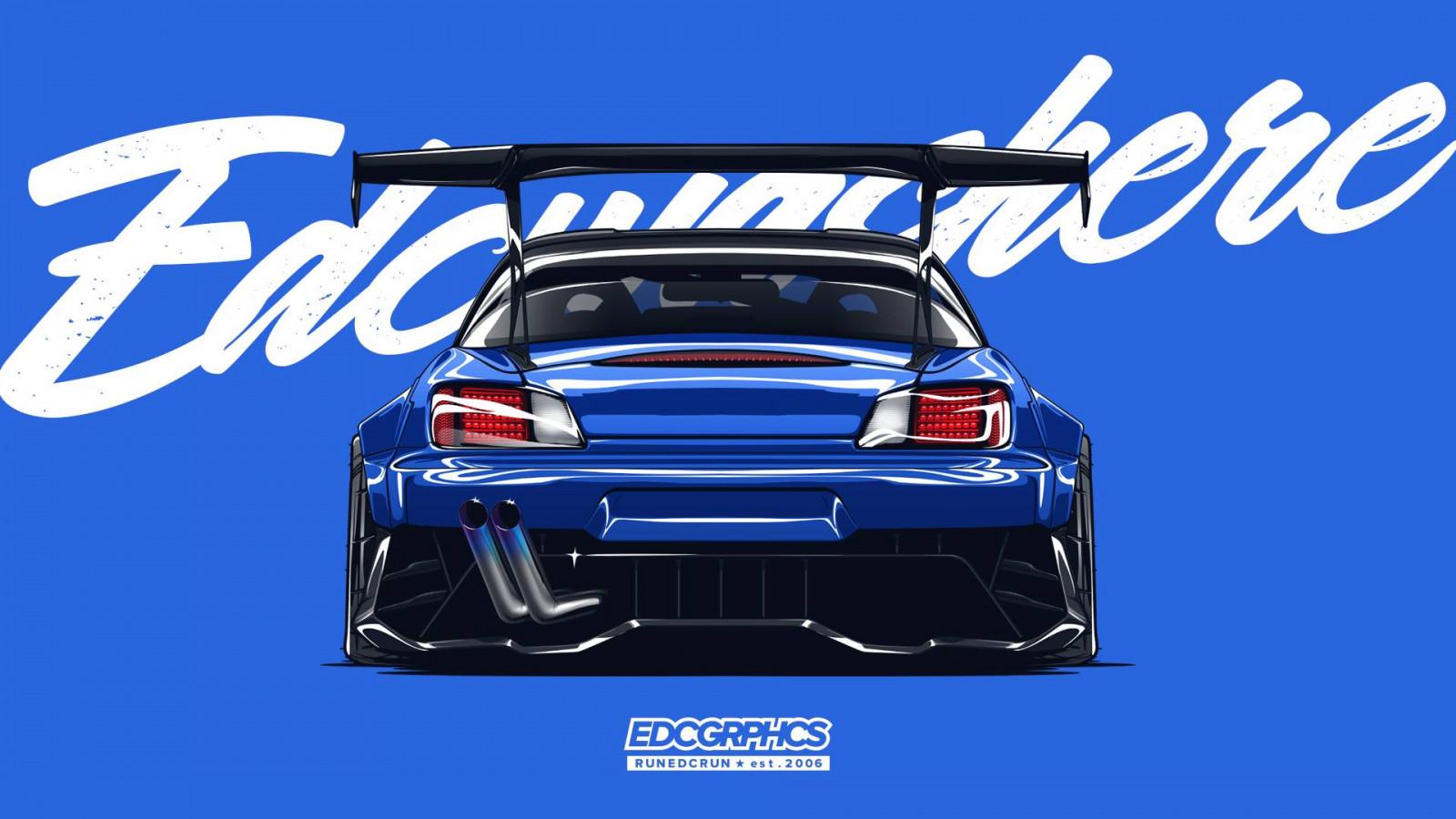Wallpaper : EDC Graphics, JDM, Japanese cars, render ...