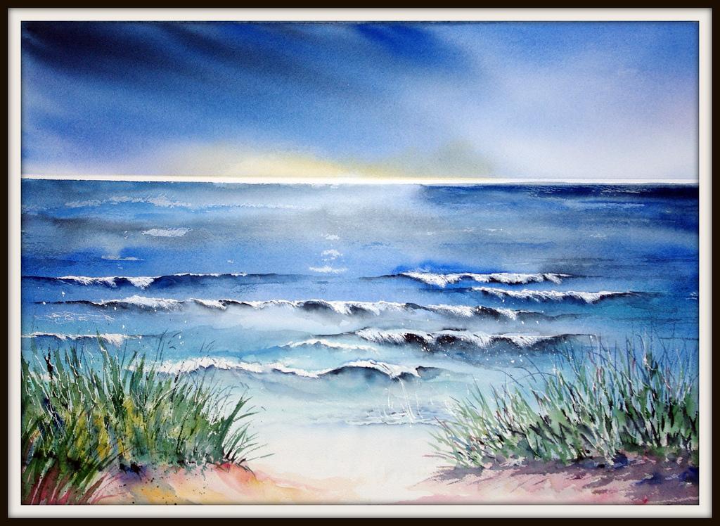hintergrundbilder : meer, costa, strand, wasser, aquarell