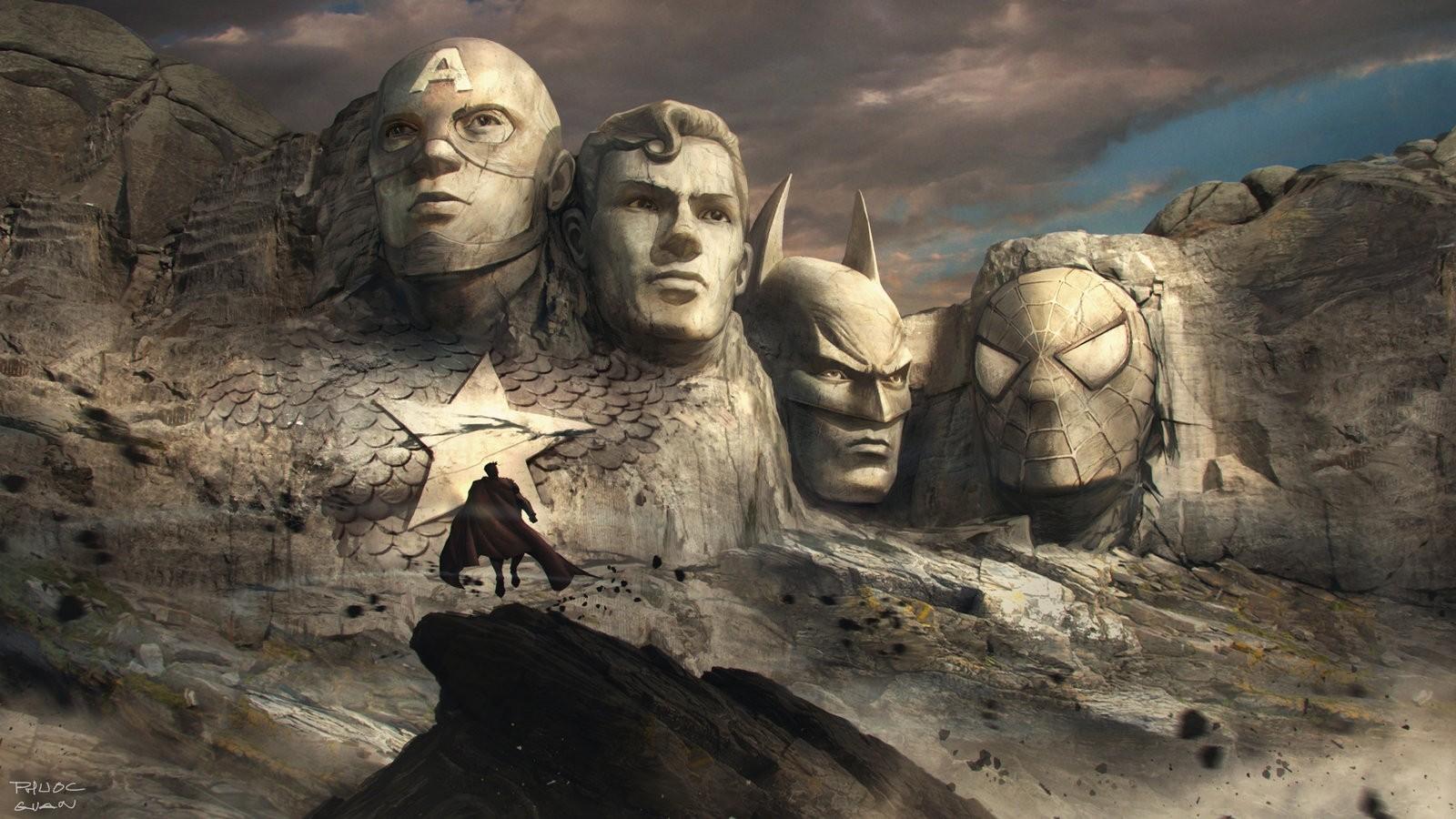 Beautiful Wallpaper Marvel Face - superhero_artwork_mountains_Mount_Rushmore_Superman_Batman_Captain_America_Spider_Man-159097  Trends_479484.jpg!d