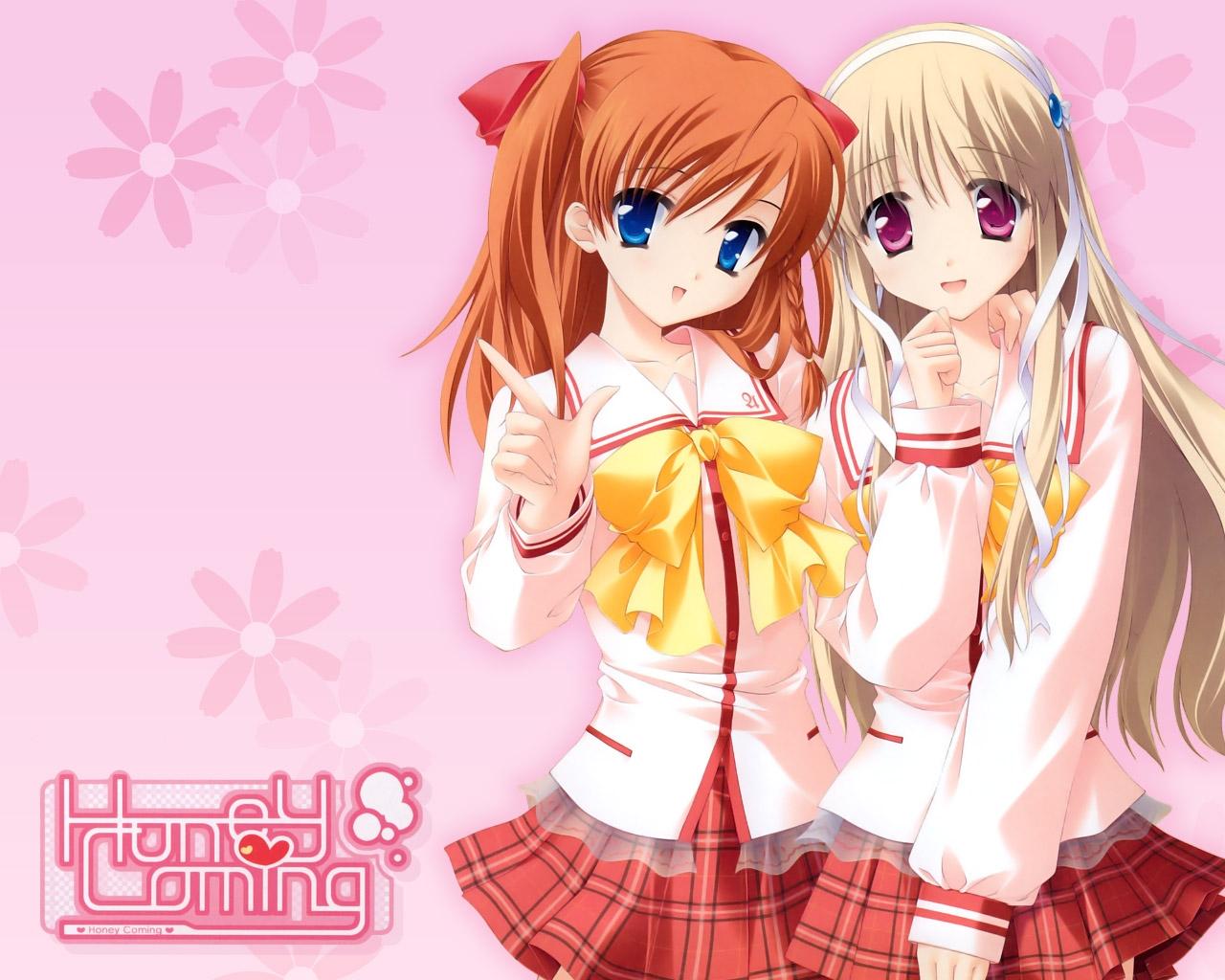 Ilustrasi Anime Gambar Kartun Berwarna Merah Muda Imut Gadis Sikap Mangaka Rok Madu Datang Asahi Kamijou