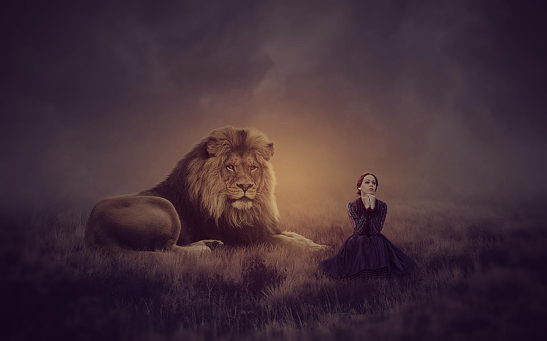 Hình nền : Photoshop, đàn bà, Nghệ thuật tưởng tượng, Cô gái tưởng tượng, đêm, sư tử, buổi sáng, thao tác hình ảnh, ma thuật, MohammadKhan, đám mây, ...