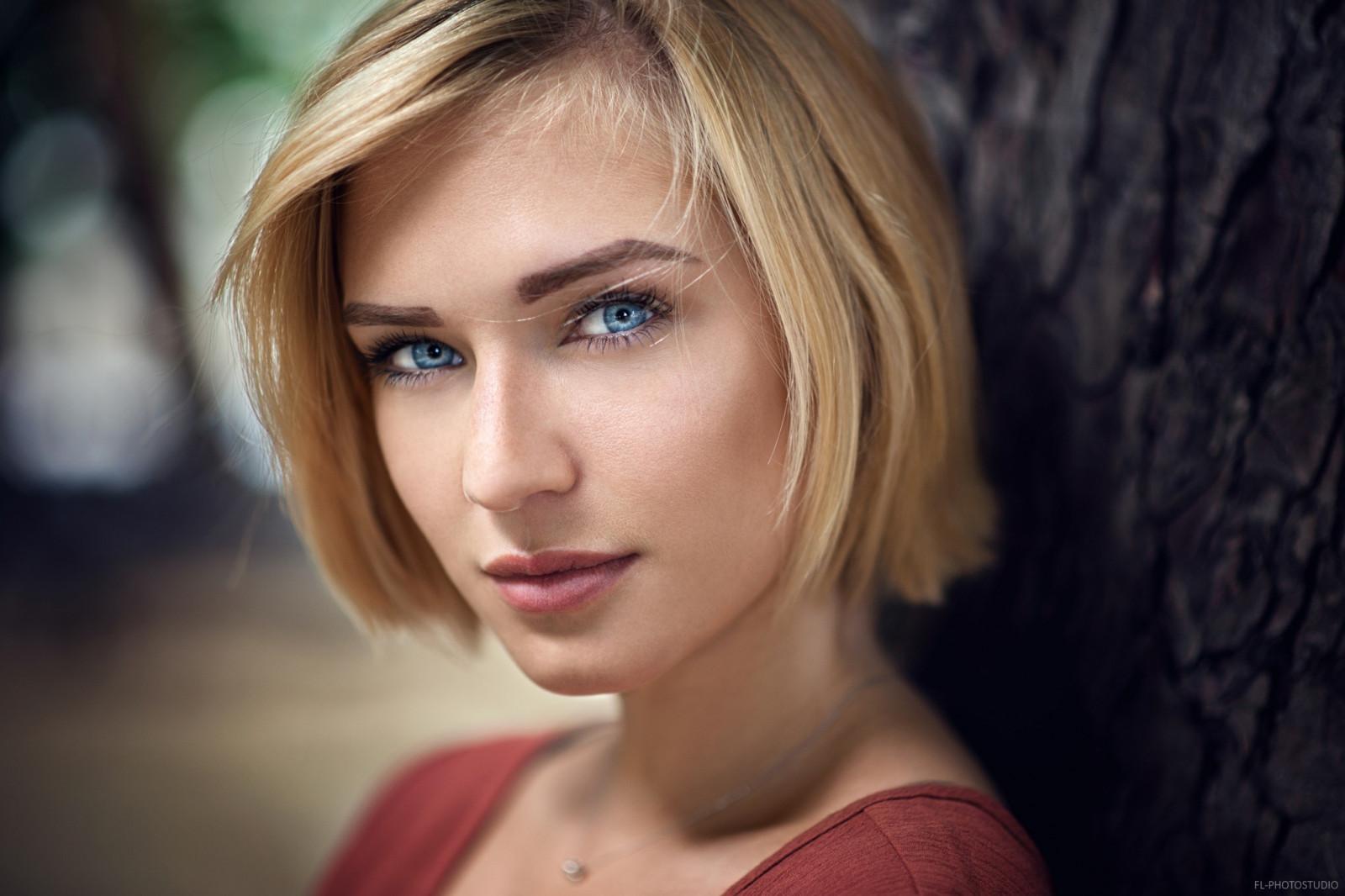 wallpaper face women model blonde depth of field