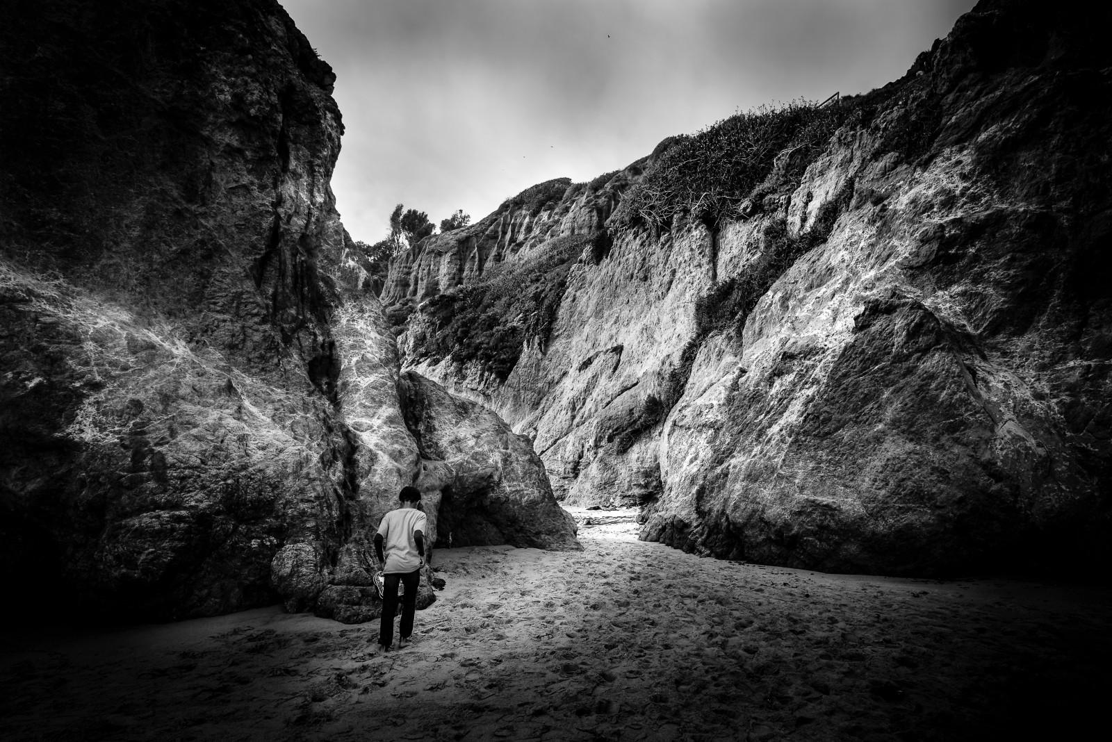 fond d u0026 39  u00e9cran   paysage  monochrome  roche  la nature  le sable  ciel  la photographie  plage
