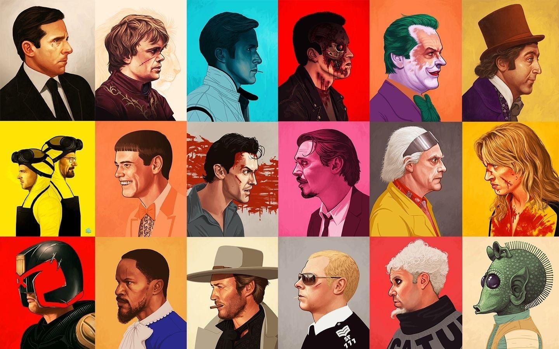 Wallpaper Illustration Star Wars Terminator Collage