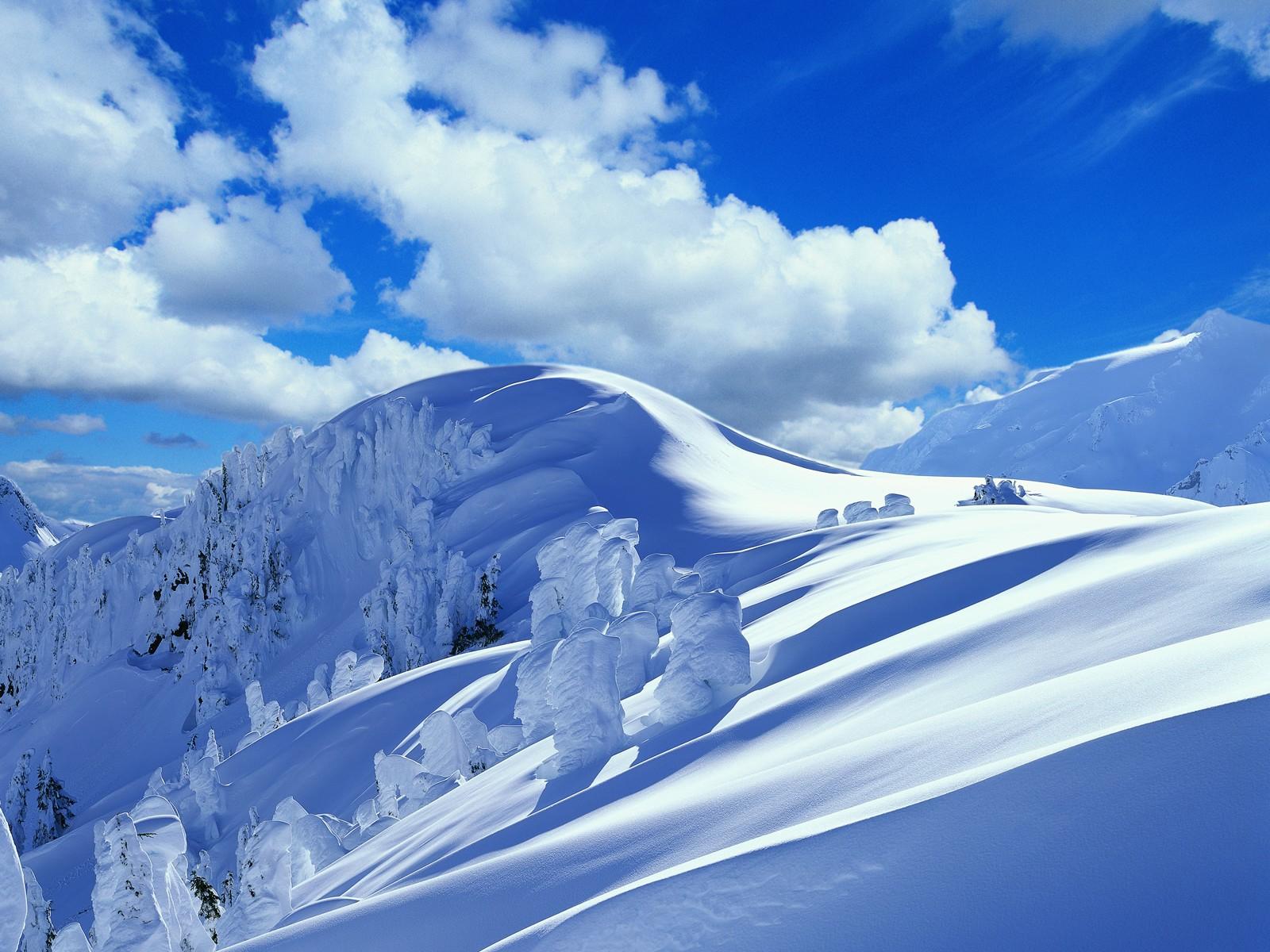 Sfondi Montagne Cielo La Neve Inverno Blu Alpi Nube