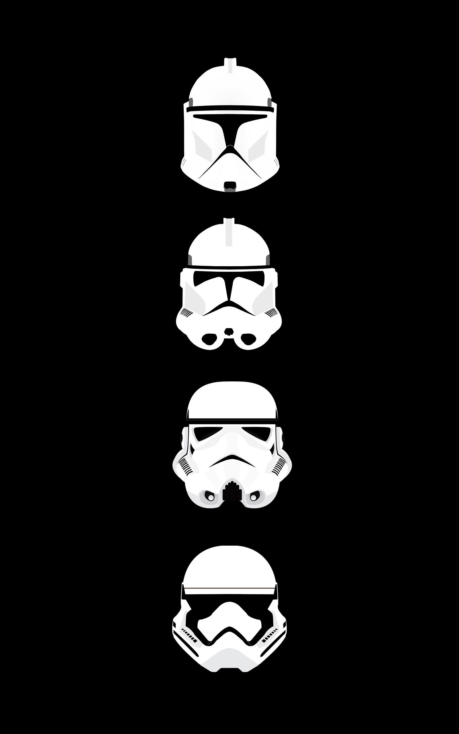 Wallpaper Illustration Star Wars Minimalism Portrait