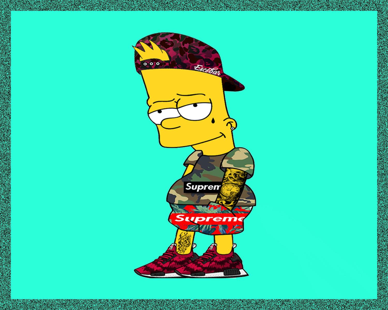Wallpaper Bart Simpson Pixel Art Seraphim Sc Supreme