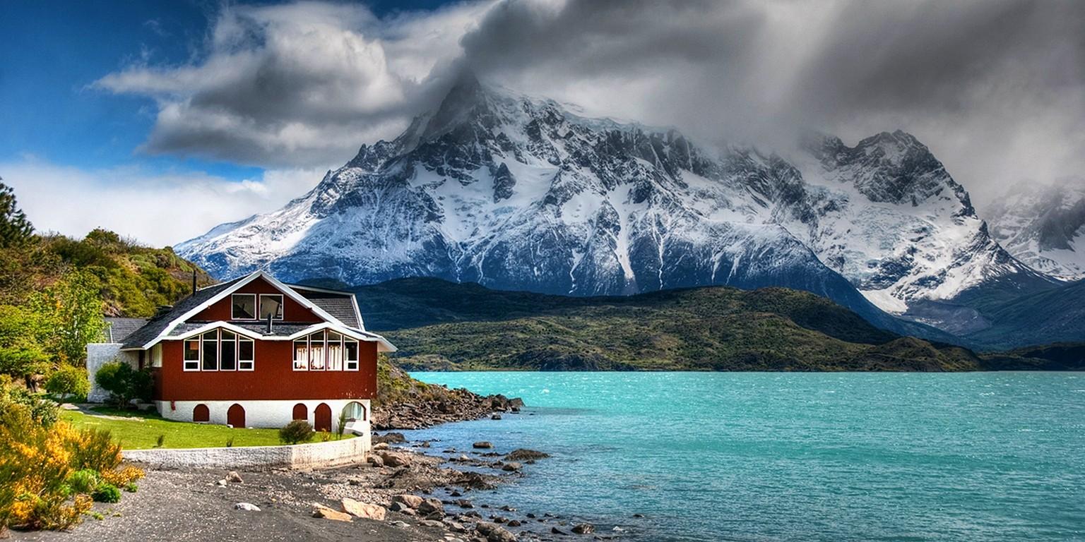 Lago Con Montañas Nevadas Hd: Fondos De Pantalla : Paisaje, Montañas, Mar, Bahía, Lago