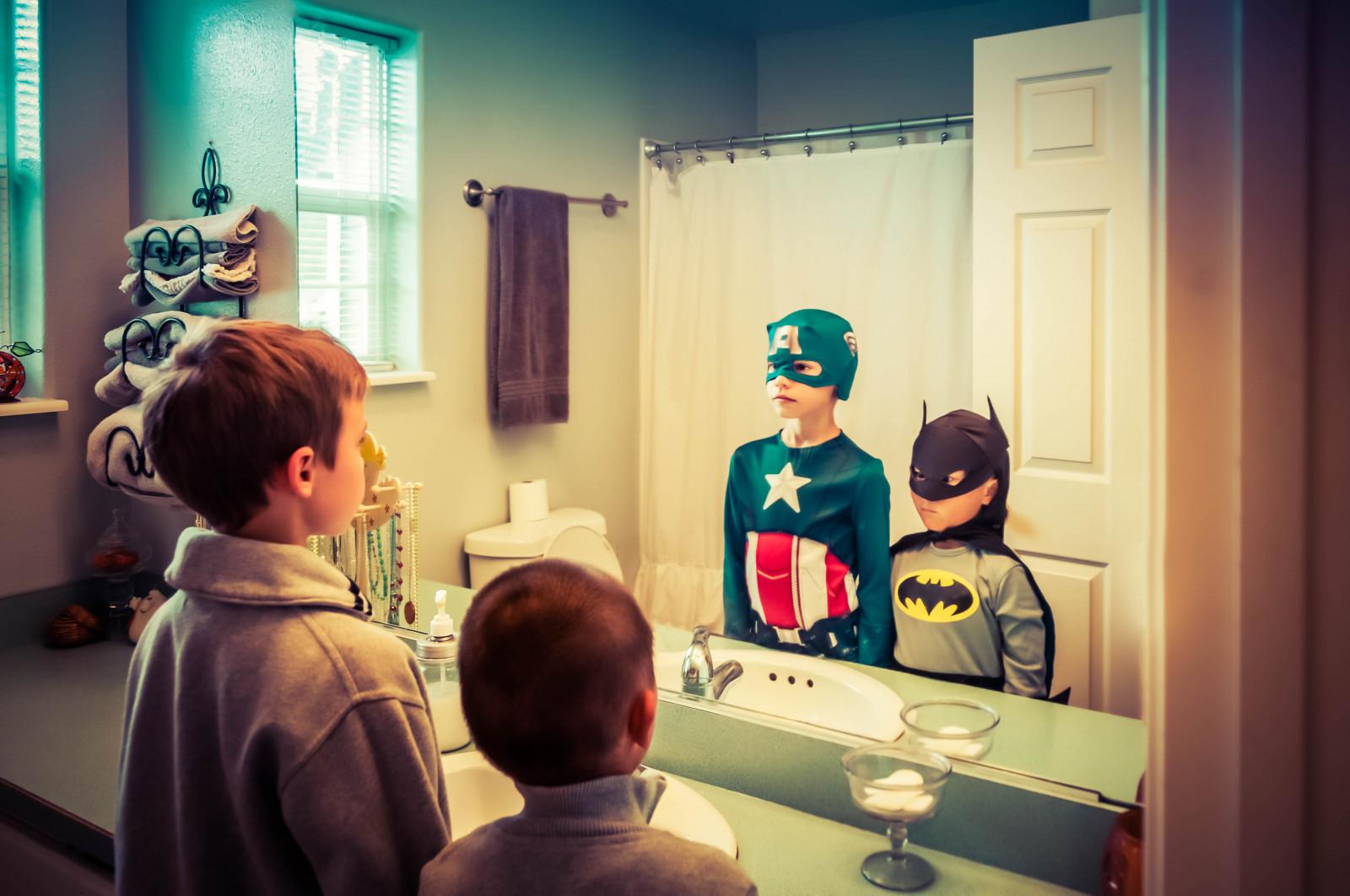 room reflection Batman mirror superhero technology world Nikon imagination comics bathroom captain sink DC america girl fun flickrfriday make wish 18200mm d90 dccomics vr marvel a captainamerica rules electronic device marvelcomics makeawish vr18200mm imaginationrulestheworld