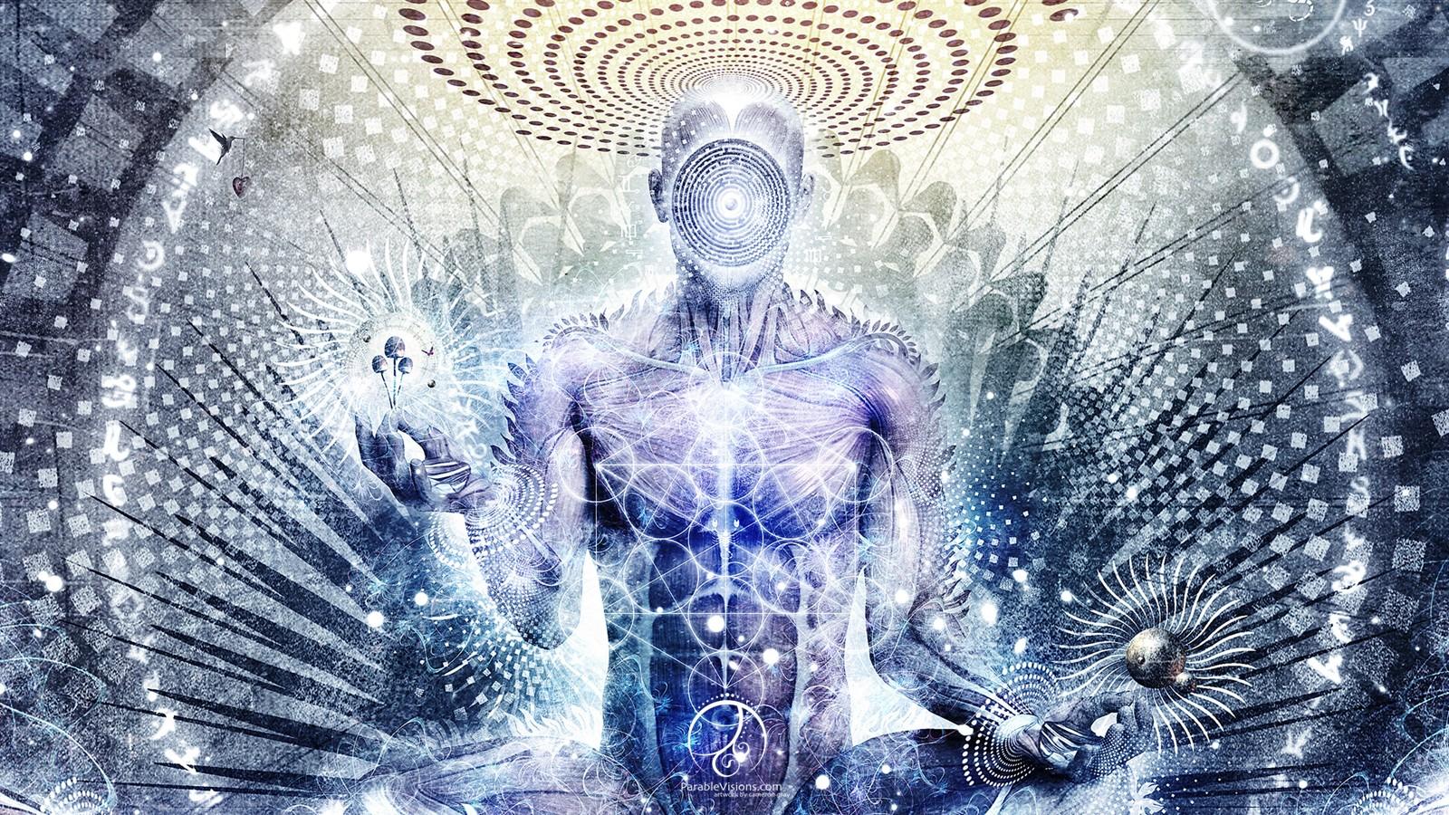 Fond d 39 cran illustration m ditation spirituel - Meditation art wallpaper ...