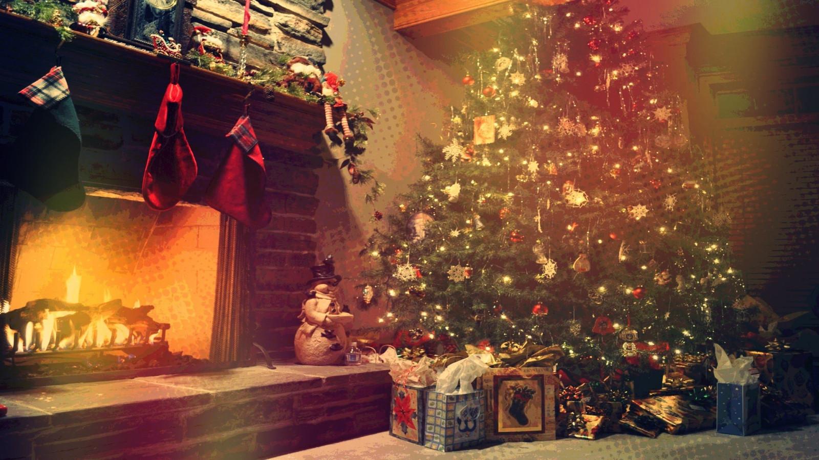 Новогодние картинки елки на рабочий стол, день