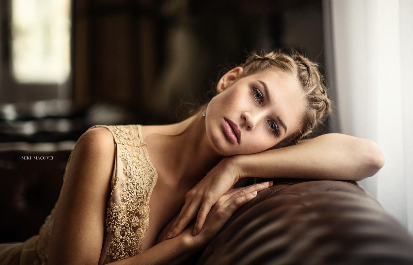Hintergrundbilder : Frau, blond, Porträt, Tiefenschärfe