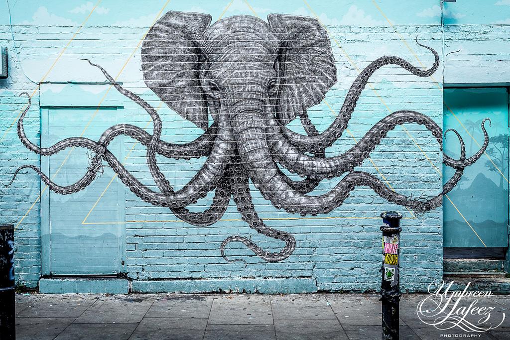 Masaüstü Tuğla Lane Sokak Sanat Doğu Londra Aldgate Fil