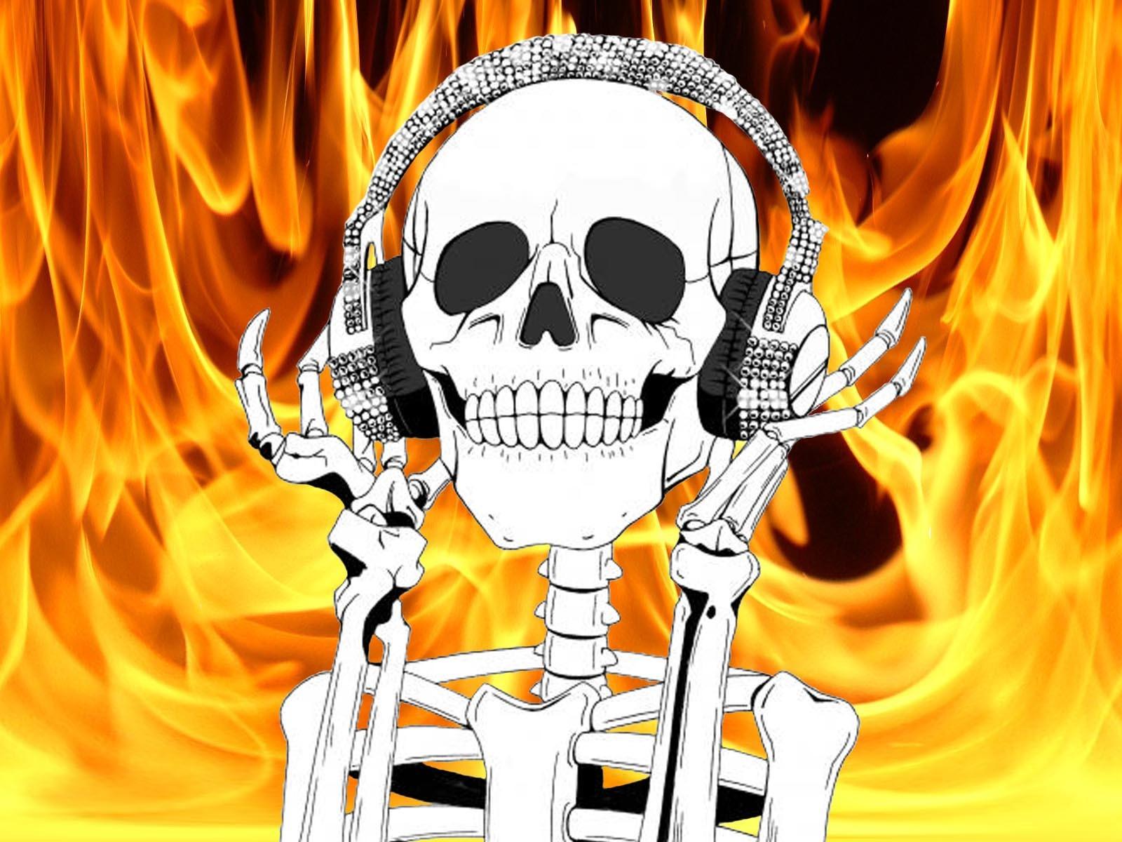 картинки черепов в огне с костями кухня