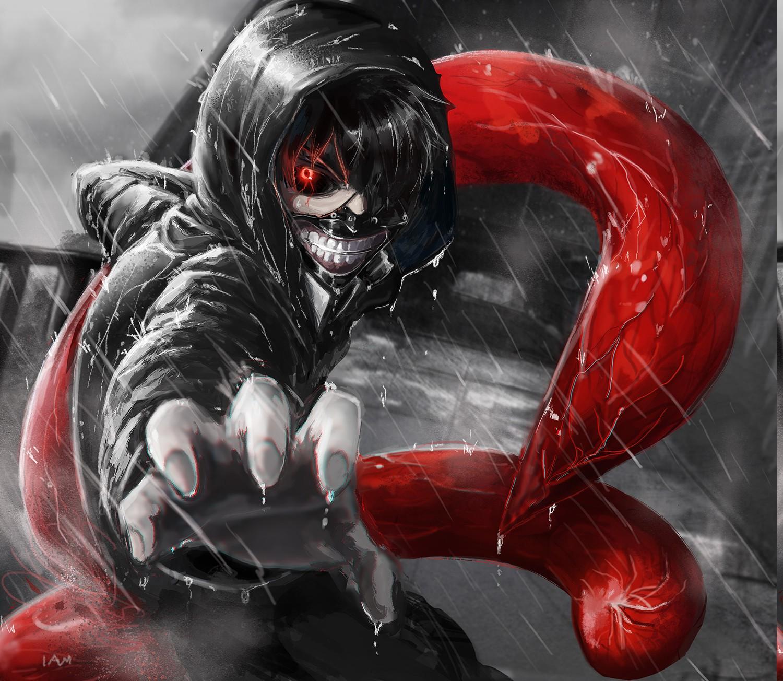 Fond d'écran : illustration, Anime, du sang, Kaneki Ken ...