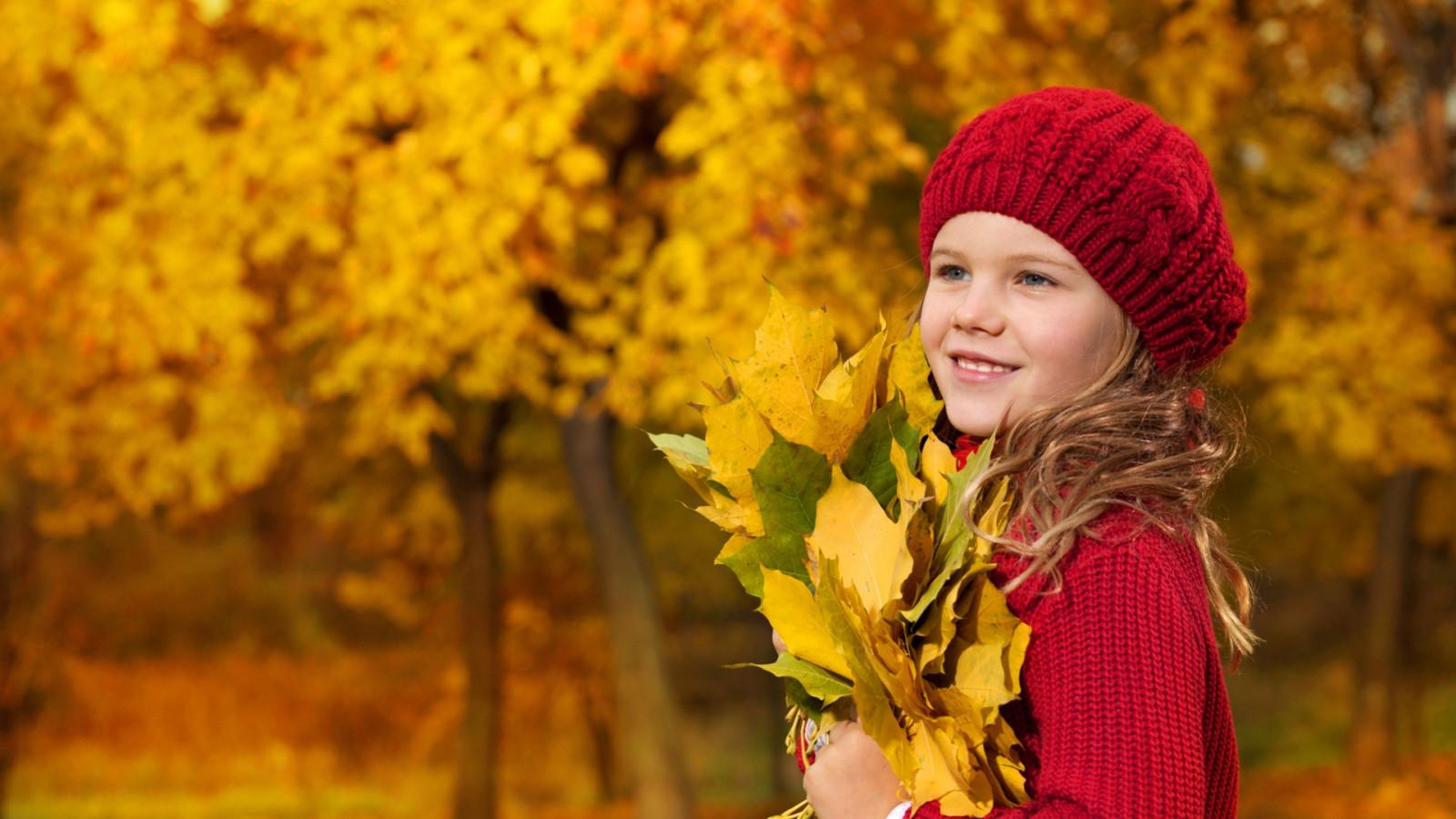 Картинки осень и дети, днем рождения