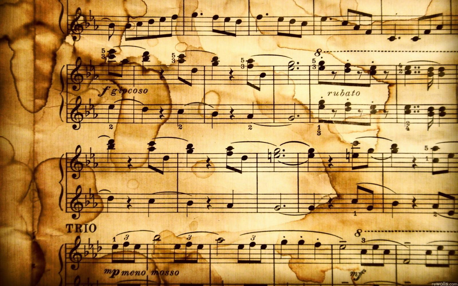 Old Music Score Background 4k Hd Desktop Wallpaper For 4k: Fond D'écran : Dessin, Guitare, Texte, La Musique, Modèle