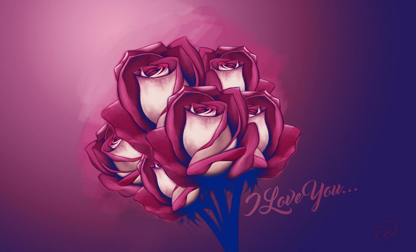 Открытки аниме розы