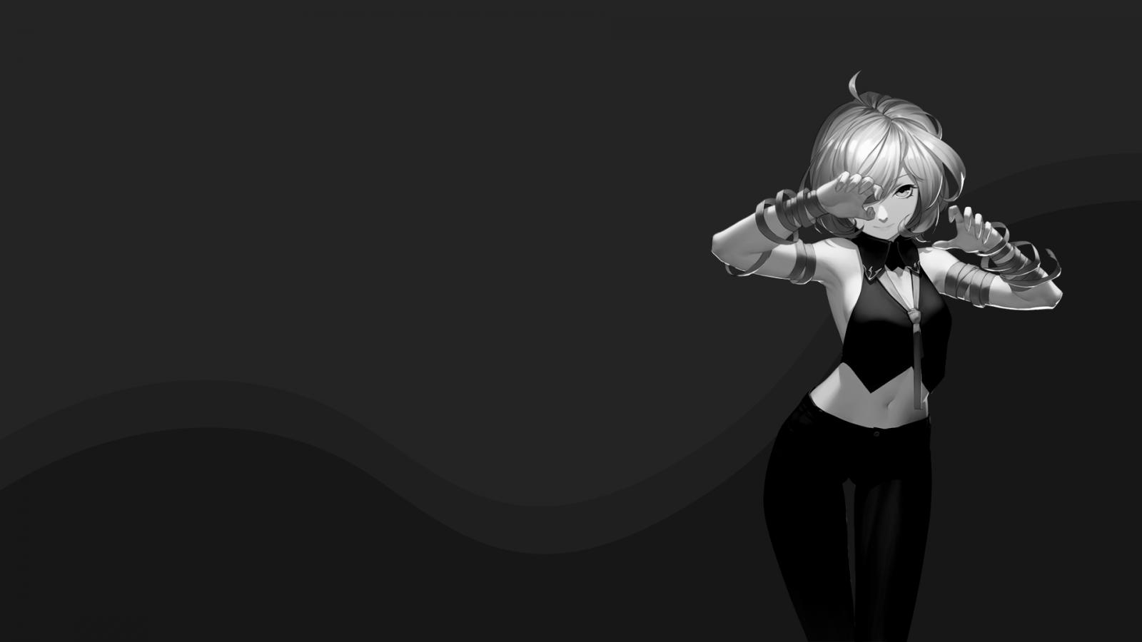 oscuro dark anime wallpaper: Fondos De Pantalla : Chicas Anime, Oscuro, Minimalismo
