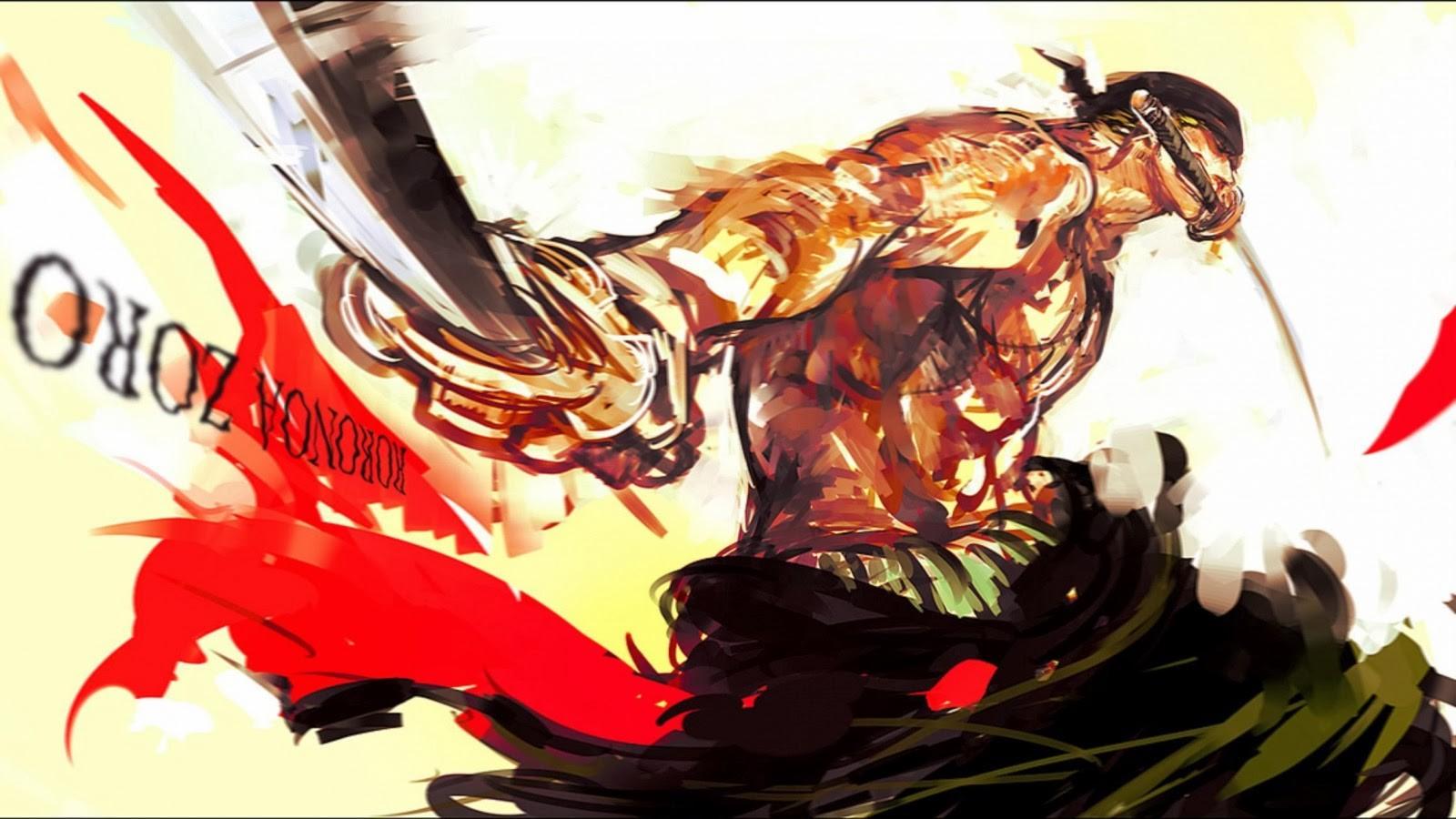 Wallpaper Illustration Anime One Piece Roronoa Zoro Fictional