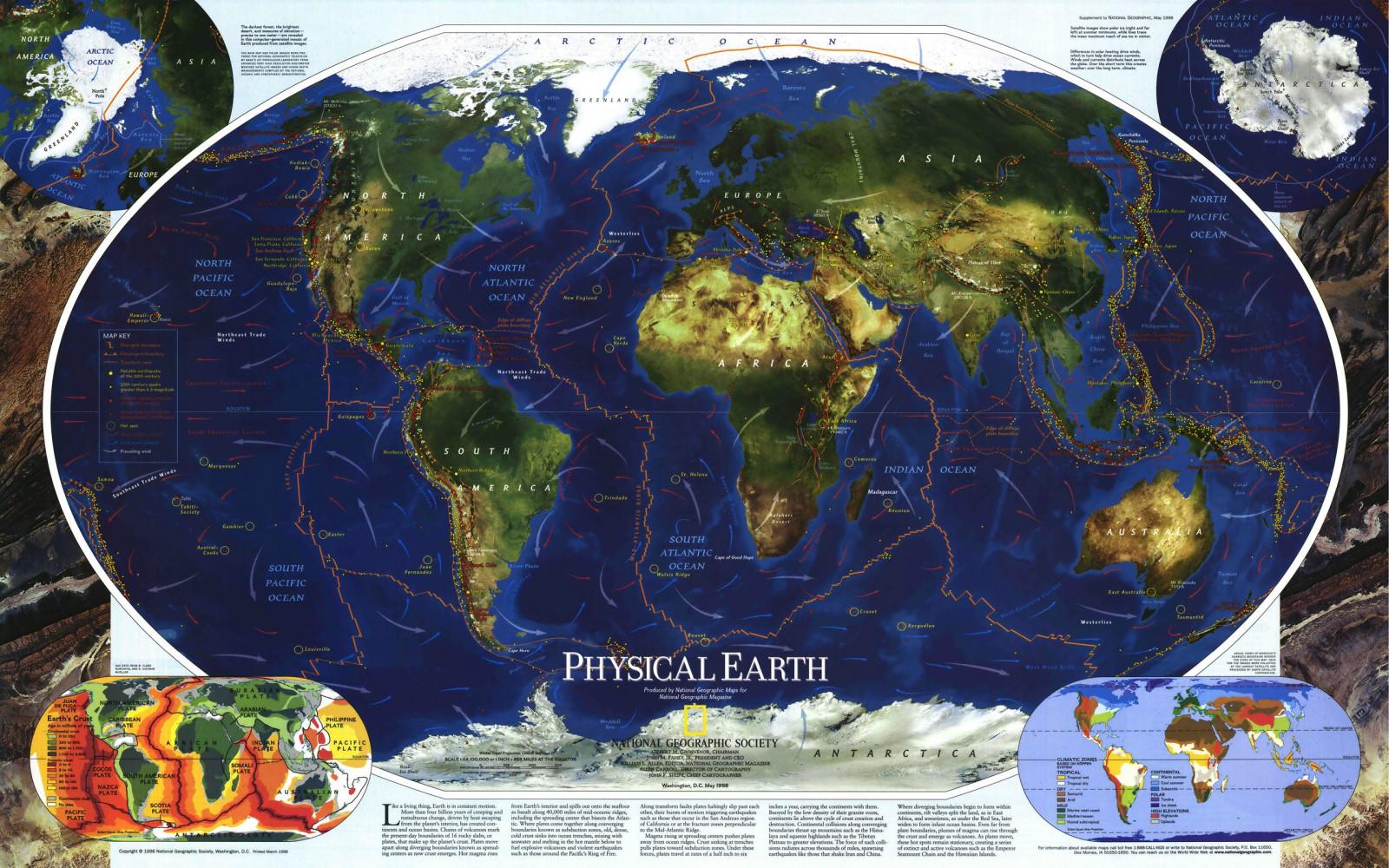 Fond d'écran planète, Terre, géographie, carte du monde