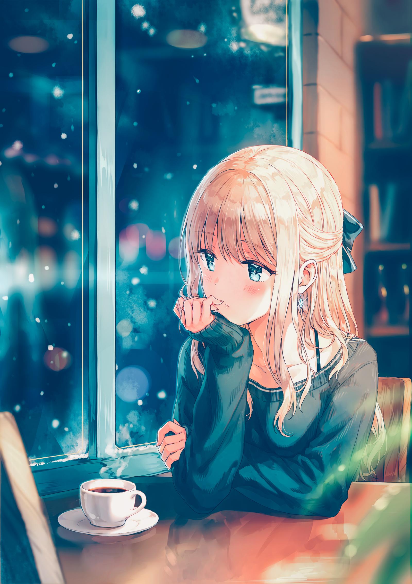 Wallpaper : illustration, blonde, long hair, anime girls