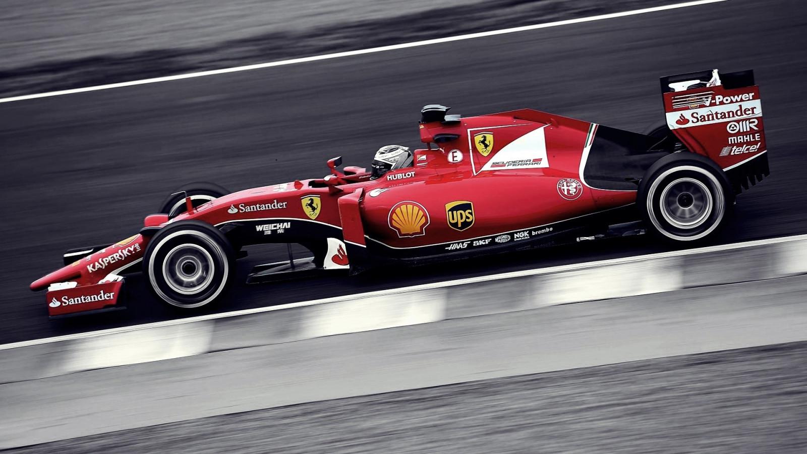 Wallpaper Mobil Balap Mewarnai Selektif Mobil Sport Ferrari F1