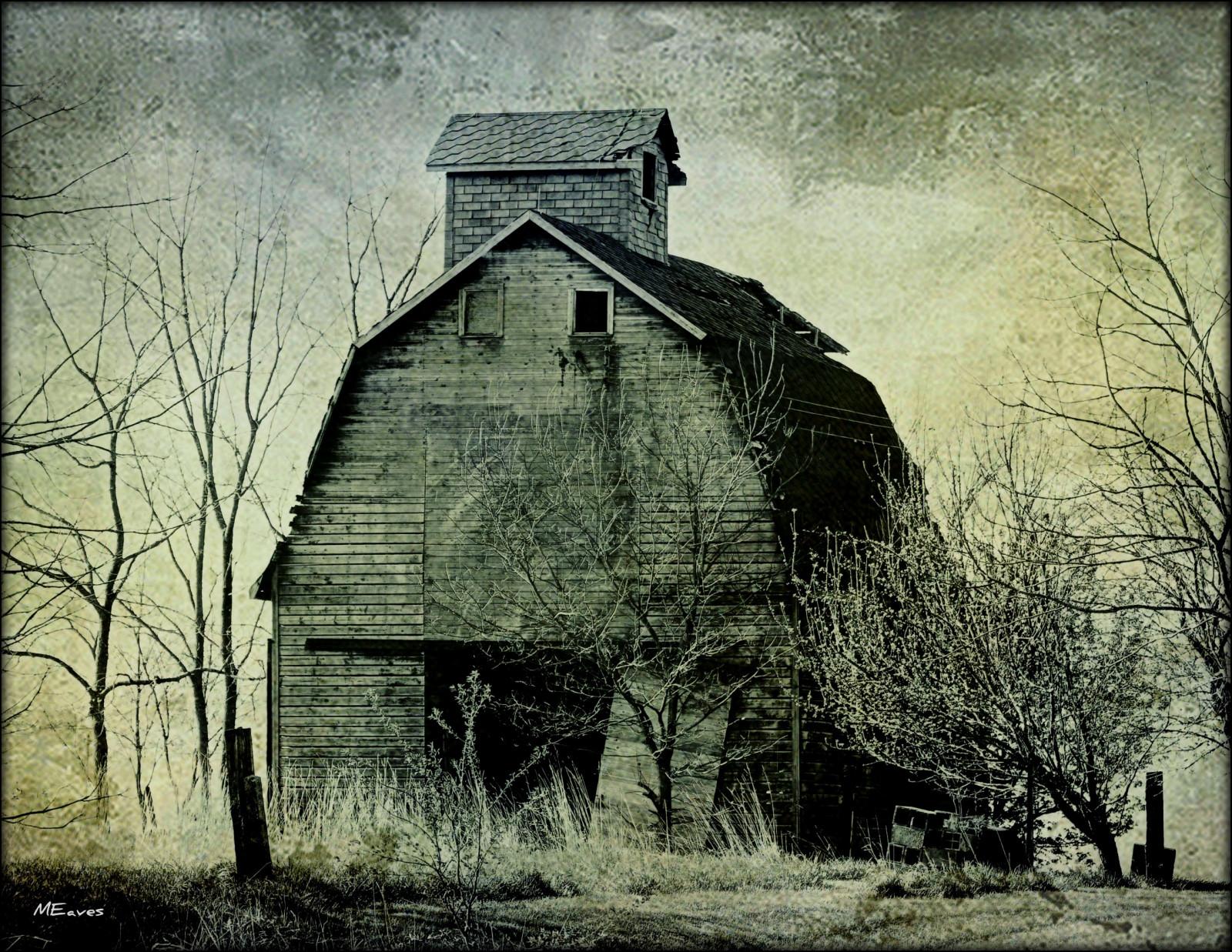 Fond d'écran : abandonné, Grange, foncé, Illinois, Midwest ...