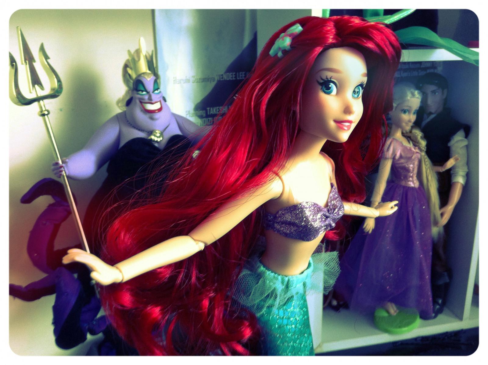 デスクトップ壁紙 アリエル 人形 ディズニー リトル マーメイド