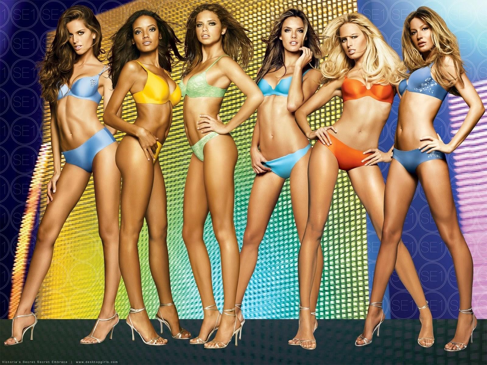 Wallpaper : model, blonde, brunette, lingerie, group of