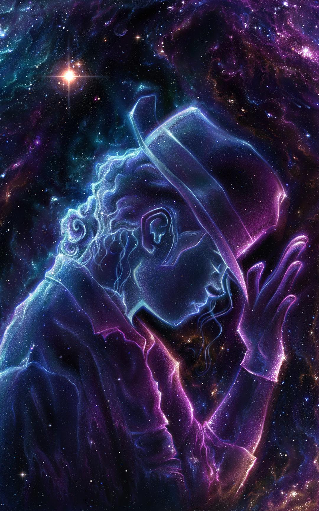 Michael Jackson fan art portrait art celebrity space art universe fantasy art king of pop 1523283