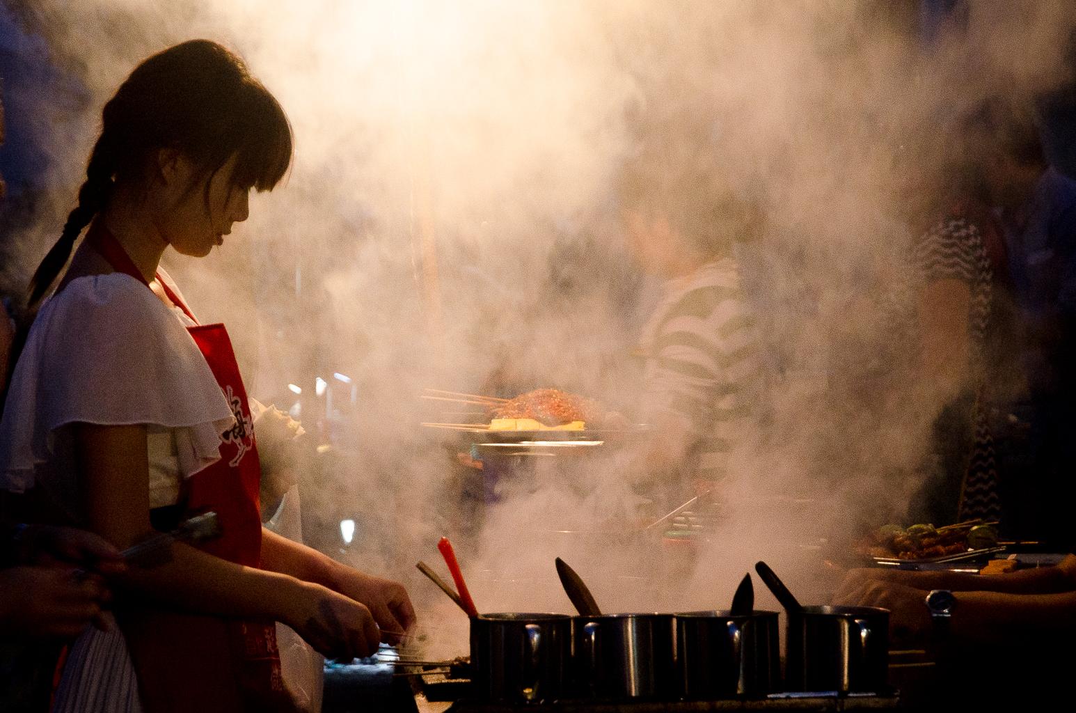 Hintergrundbilder : Lebensmittel, China, Rauch, Feuer, Küche