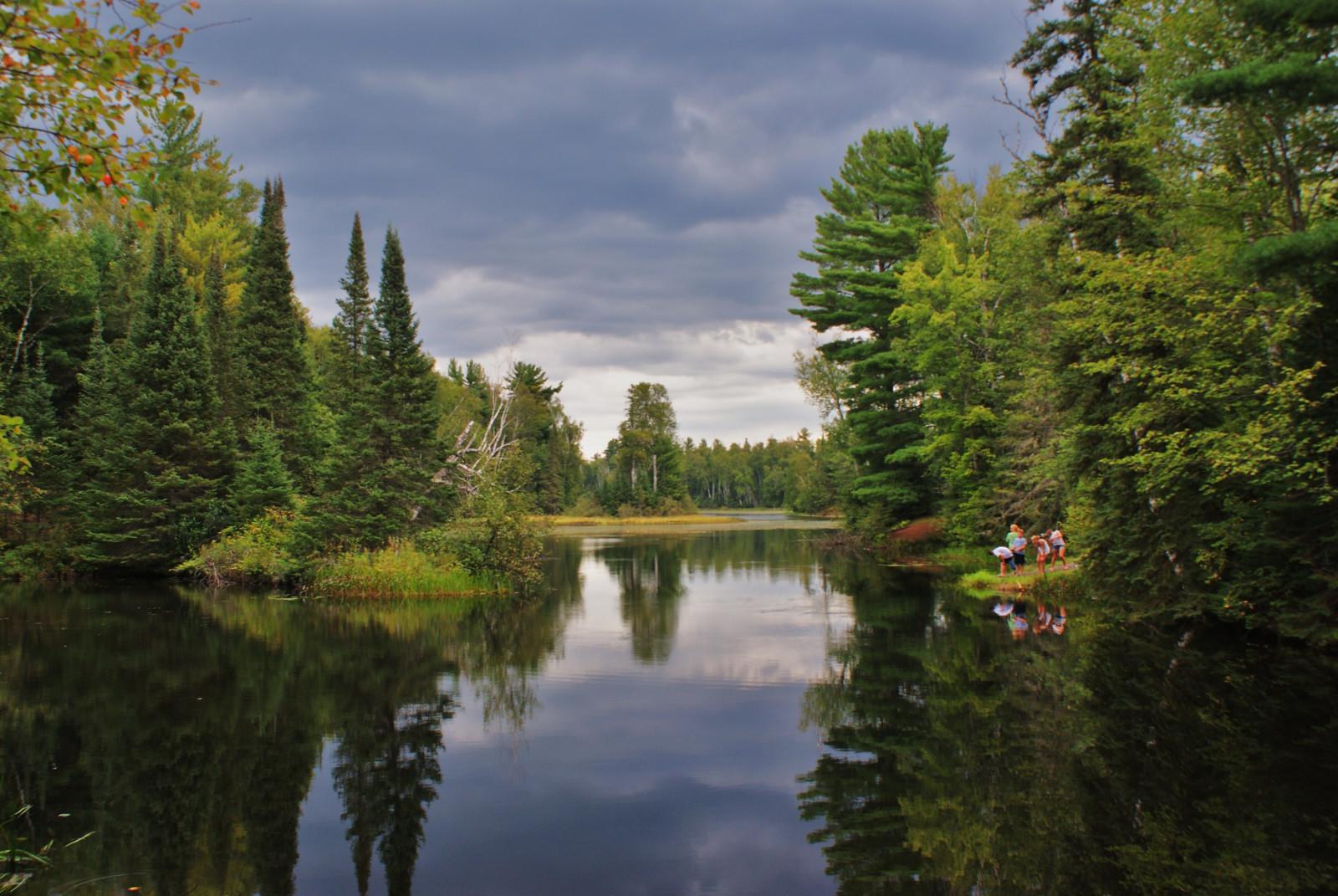 Wallpaper Trees Landscape People Children Lake