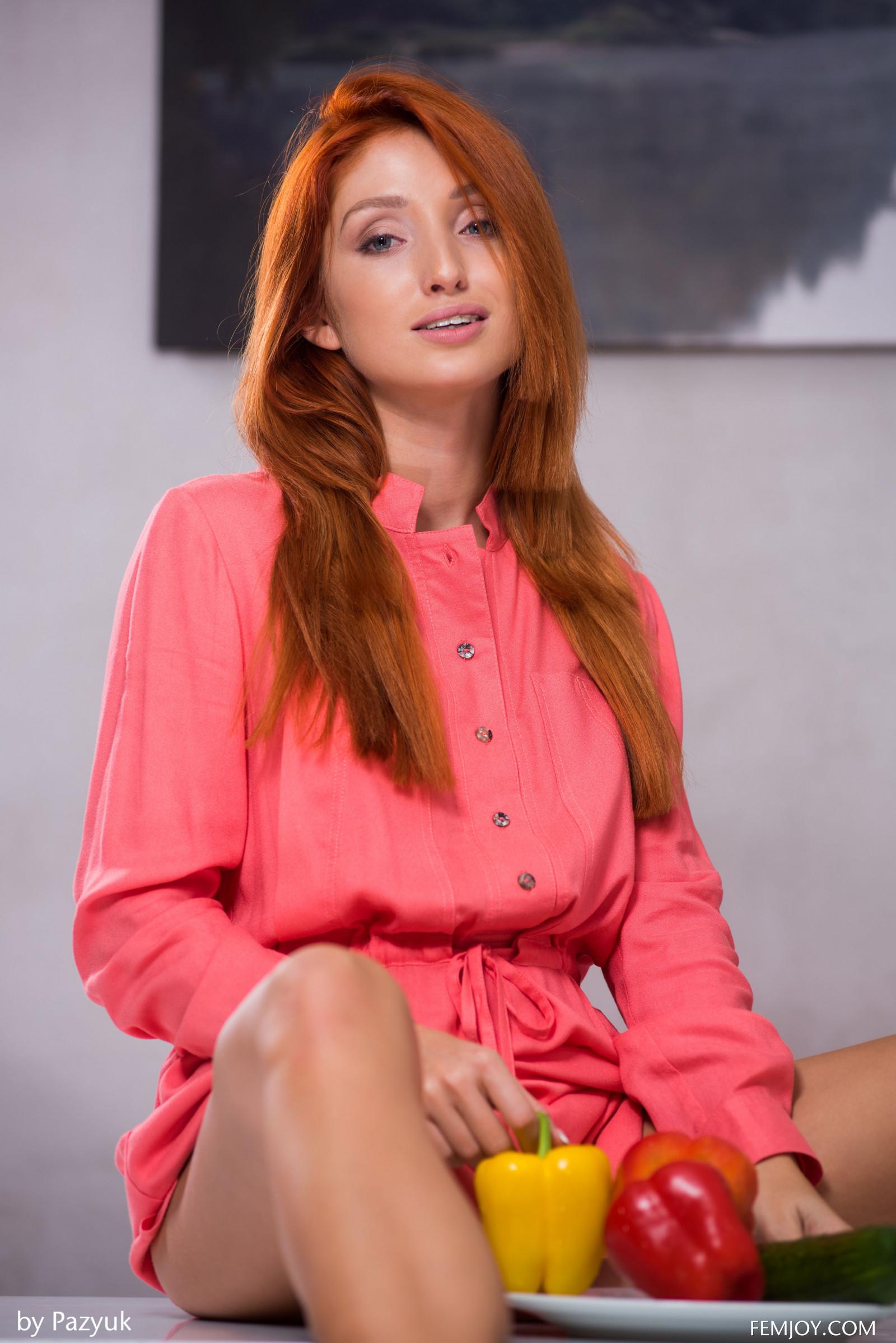 Wallpaper : redhead, Femjoy Magazine, kitchen, table