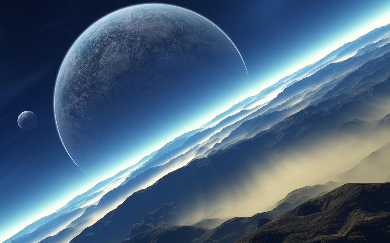 Wallpaper Seni Digital Planit Langit Karya Seni Bumi Ruang
