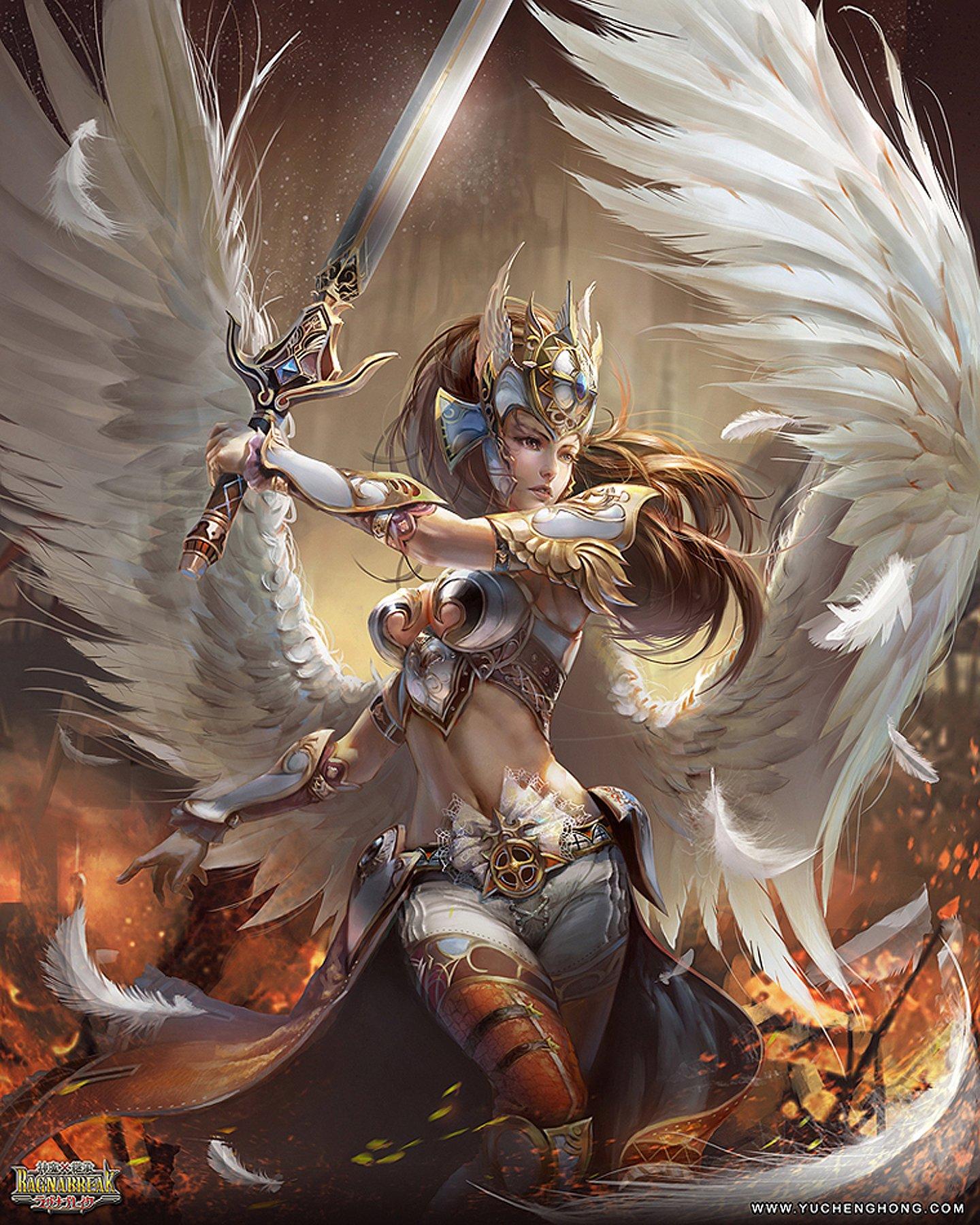 Картинки с ангелами воинами