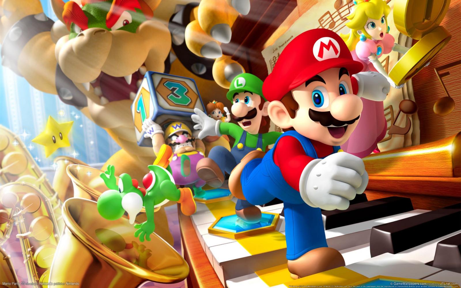 Papel De Parede Videogames Anime Desenho Animado Super Mario