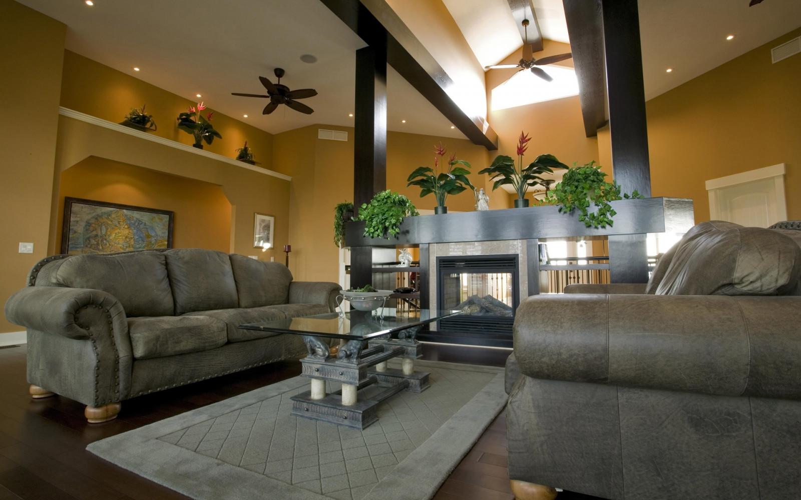 living room sweet special design sofa   Wallpaper : fireplace, interior design, sofa, lobby, floor ...