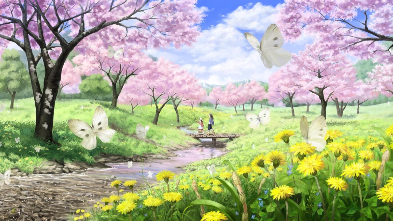Wallpaper Bunga Sakura Animasi Mekar Menanam Flora