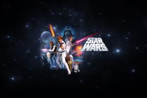 Wallpaper Star Wars Night Minimalism Chewbacca R2 D2 Circle Darth Vader Stormtrooper Yoda C 3po Luke Skywalker Han Solo Princess Leia Light Darkness Screenshot Computer Wallpaper Font Astronomical Object 2560x1600