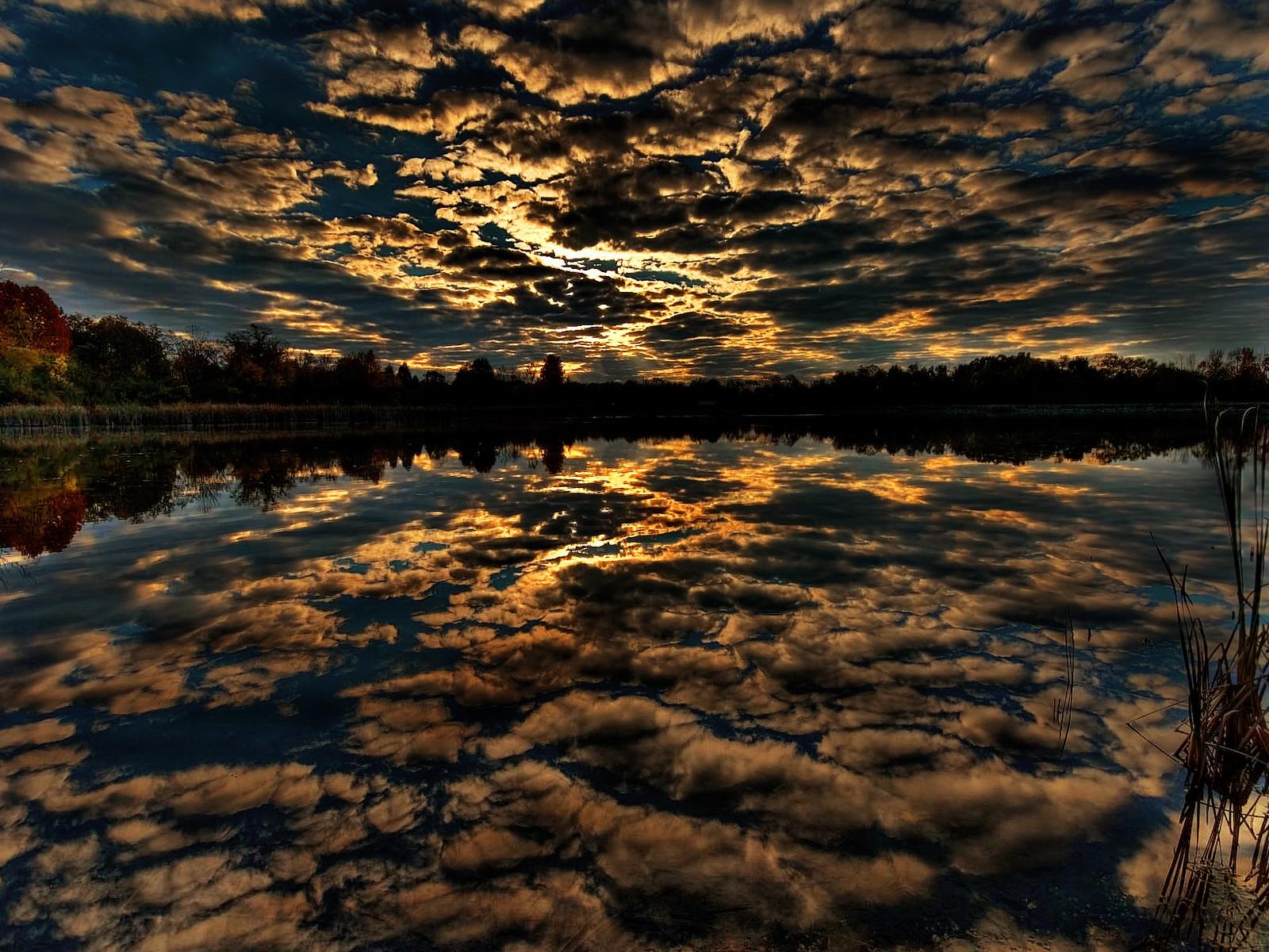 Картинки отражение в воде природы, танками
