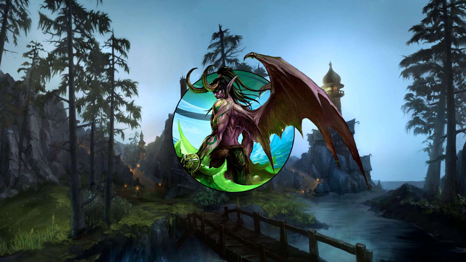 Jungle Wallpaper World Of Warcraft: Wallpaper : World Of Warcraft, Dragon, Jungle, Illidan