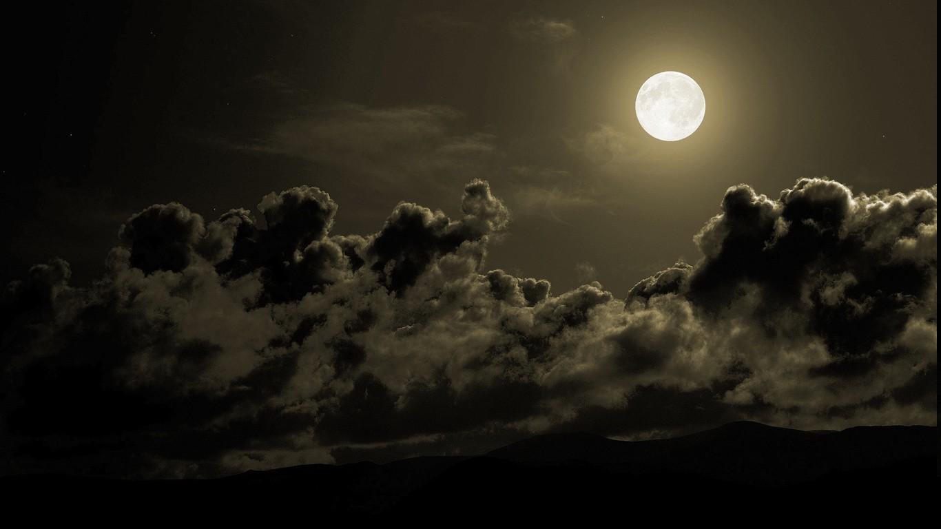 Wallpaper landscape night nature space sky moon storm evening moonlight midnight - Hd wallpapers of darkness ...