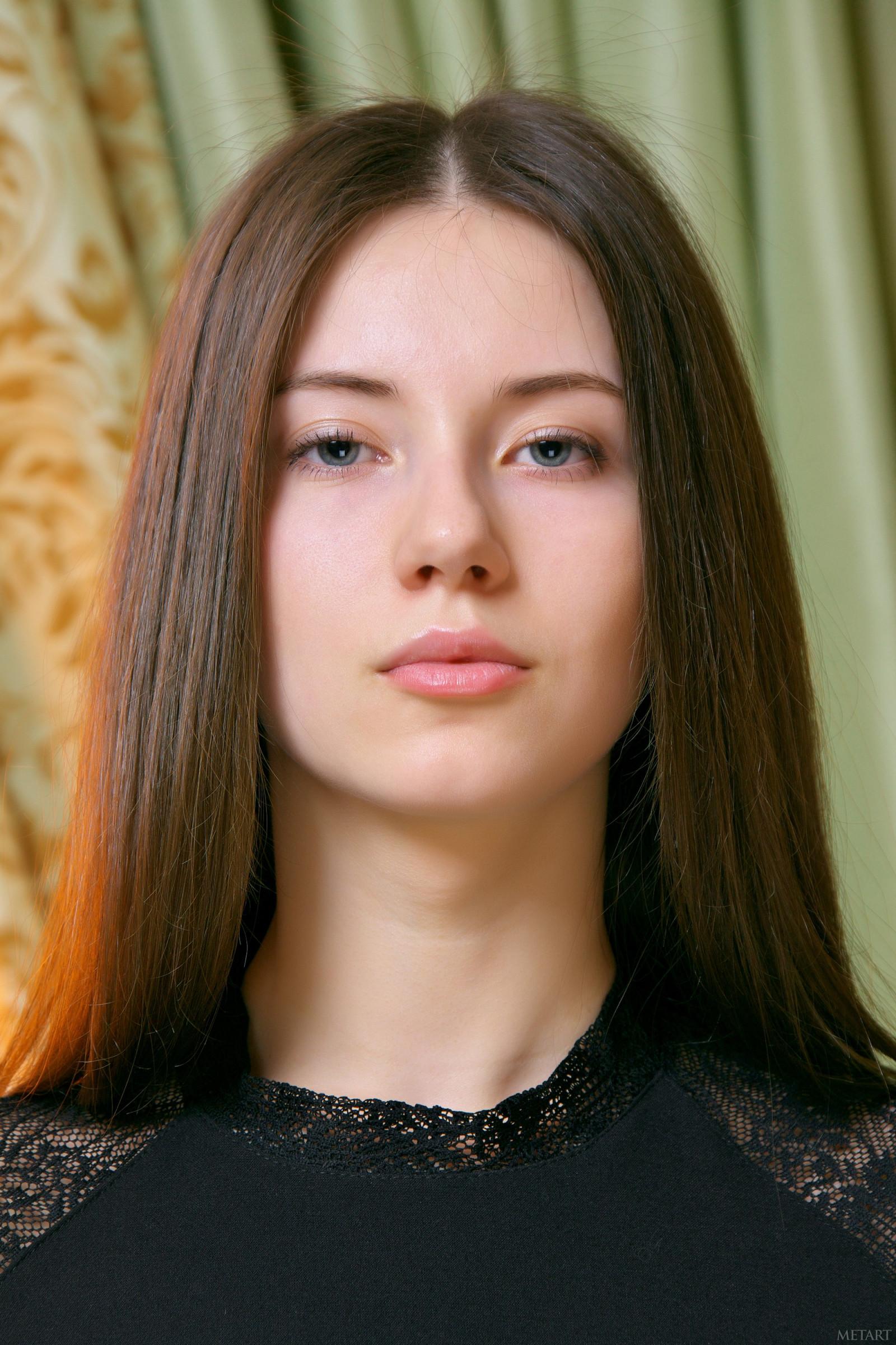 Wallpaper : MetArt Magazine, face, brunette, blue eyes