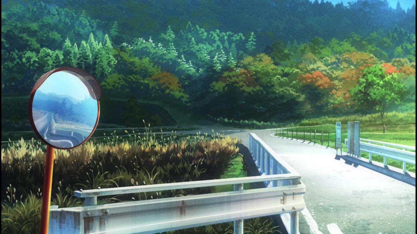 Wallpaper Landscape Anime Water Nature Reflection Non