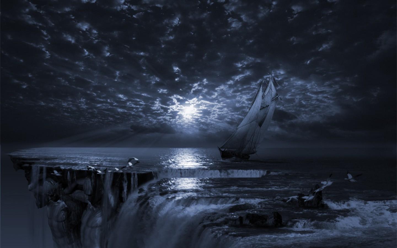 Sfondi Paesaggio Monocromo Mare Notte Astratto Acqua Natura