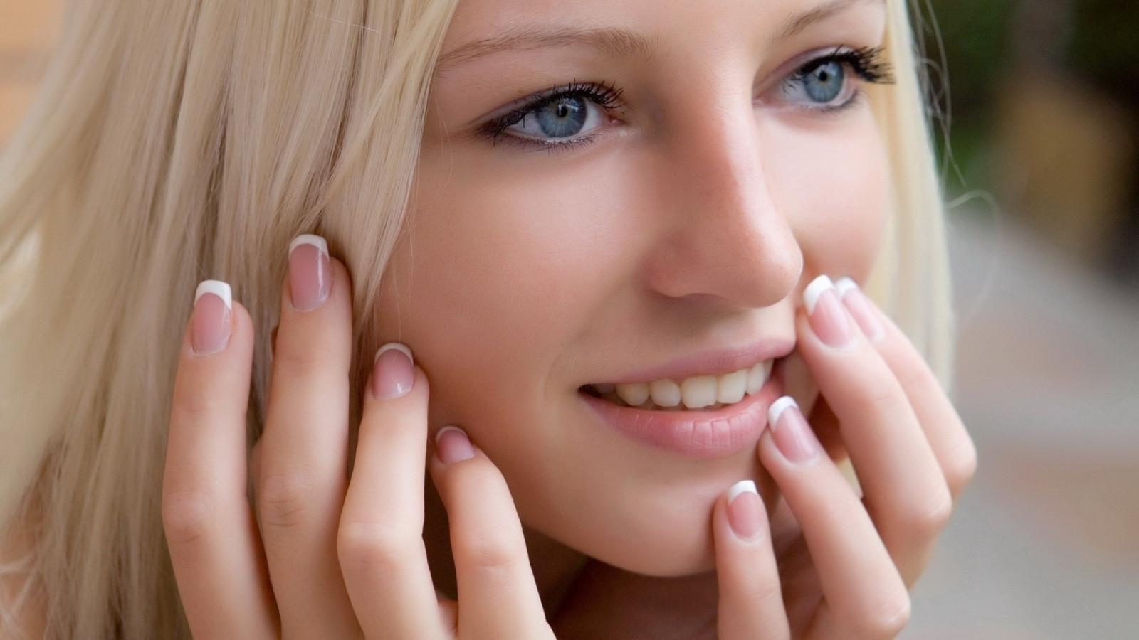 Wallpaper Face Women Model Singer Blue Mouth Nose: Wallpaper : Face, Women, Model, Blonde, Depth Of Field