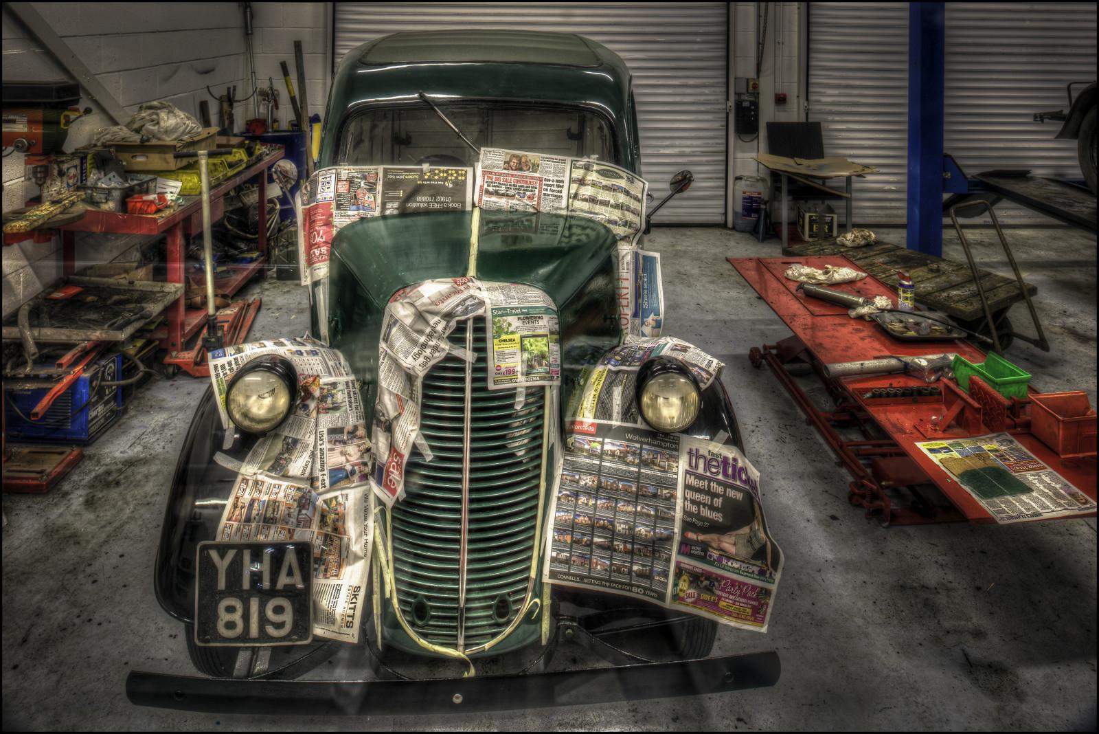 Fond d 39 cran noir voiture v hicule hdr nikon cru - Garage de voiture ancienne ...