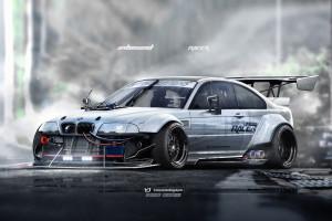 Wallpaper Race Cars Jdm E46 Drifting Sports Car Bmw M3 E46